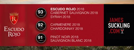 Escudo Rojo James Suckling 2018 vin chili