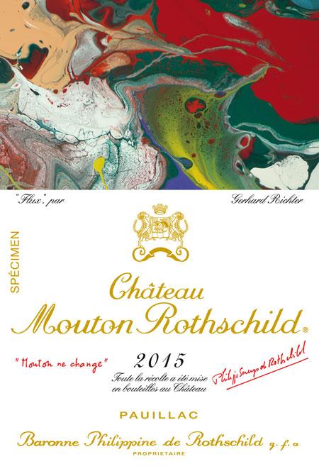 Etiquette Château Mouton Rothschild 2015 Gerhard Richter