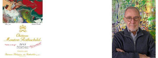 Gerhard Richter étiquette label Château Mouton Rothschild 2015